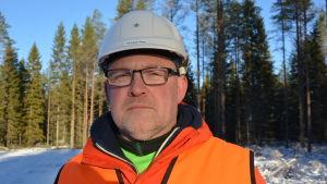 Thomas Åman på Skogsvårdsföreningen i Österbotten.