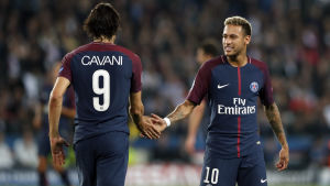 Edinson Cavani och Neymar.
