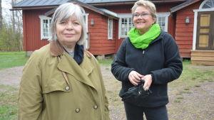 Sjundeåpolitikerna Arja Alho och Merja Laaksonen.
