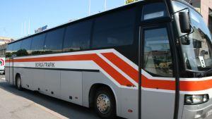 Parkerad buss