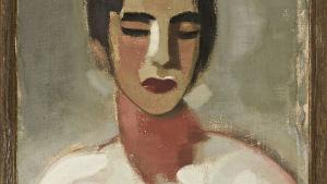 Porträtt av kvinna målat av Helene Scherfbeck