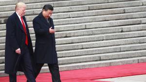 USA:s och Kinas presidenter träffas.