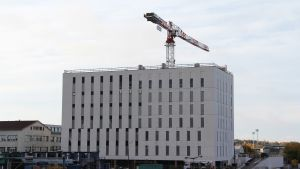 OP Pohjolas nya sjukhus i Åbo.