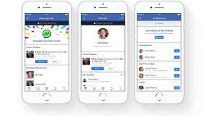 Skärmdump från appen messenger kids som visar de olika alternativen föräldrar har att kontrollera sina barns förehavanden i appen