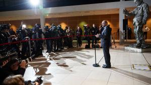 Socialdemokraternas ledare Martin Schulz meddelar om sin avgång