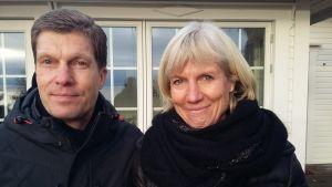 Staffan och Charlotta Tallqvist ägare av Stormhälla på Stora Tallholmen i Hangö