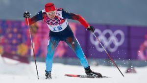 Nikita Krjukov i farten under OS i Sotji.