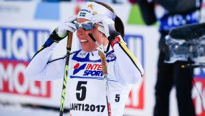 Charlotte Kalla tog två silver och ett brons i årets skid-VM i Lahtis.