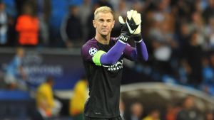 Joe Hart i Manchester City hösten 2016.