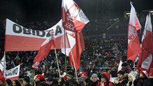 Polska fans i Lahtis.