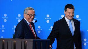 EU-kommissionens ordförande Jean-Claude Juncker och Estlands premiärminister Jüri Ratas.