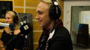 Christoffer Strandberg i studion