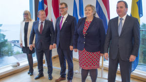 De nordiska statsministrarna på möte på Åland i september 2016.