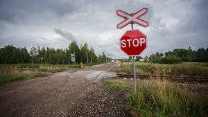 Plankorsningen i Estland där olyckan inträffade.