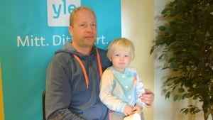 Anders Eriksson och dottern Elin.