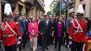 Kataloniens president Carles Puigdemont i Barcelona den 24.9.2107.