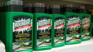 Glyfosat finns i många konsumentprodukter.
