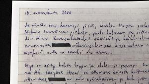 Text som skrivits av en elev i Kallion lukio.