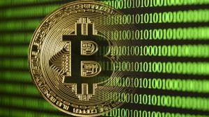 kryptovalutan bitcoin och en massa ettor och nollor