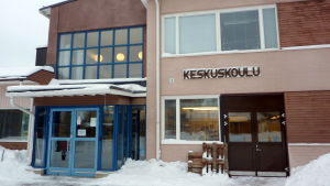 Den finskspråkiga skolan Keskuskoulu i Korsholm
