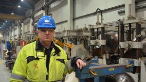 Huvudförtroendeman Ilkka Nordström vid OSTP i Jakobstad