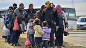 En grupp asylsökande.