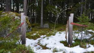 """Grinden till """"Paradiset"""", familjen Nelin-Cronströms villa."""