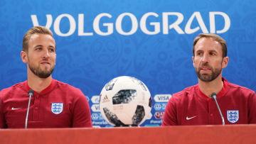 Harry Kane och Gareth Southgate under fotbolls-VM 2018.