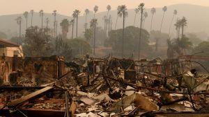 Vista del Mar-sjukhuset i Ventura brann ner till grunden.