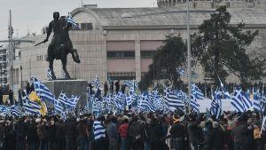 Demonstration i Thessaloniki 21.1.2018 angående namnet Makedonien.
