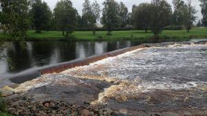 Dammen vid Nybroparken i Lappfjärd
