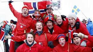 Norska fans, skid-VM 2015.