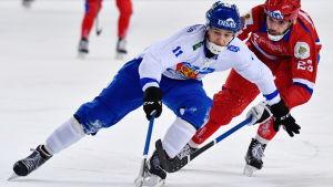 Markus Kumpuoja, Finland-Ryssland VM 2018.