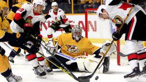 Pekka Rinne agerade levande vägg mot Ottawa.