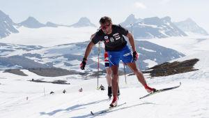 Petter Northug med det norska landslaget på läger i Sognefjellet.