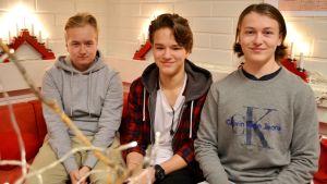 Dennis Manninen, Alexander Bondestam och Alexander Gumpler.