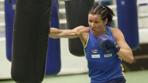 Mira Potkonen under förberedelserna till EM-2018.