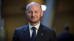Poliitikko ja kansanedustaja Sampo Terho, Sininen eduskuntaryhmä (Uusi vaihtoehto), Pikkuparlamentti, 10.11.2017.