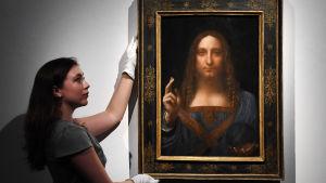 """""""Salvator Mundi"""" eller """"Världens Frälsare"""" av Leonardo da Vinci"""