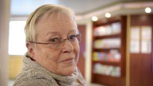 Journalisten och författaren Yrsa Stenius ombord på en Sverigefärja den 19 februari 2017.