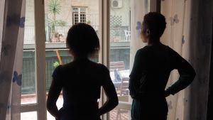 Nigerianska offer männsikohandel på ett skyddshem i Catania.