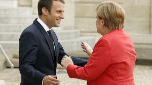 Emmanuel Macron och Angela Merkel