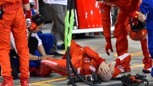 Skadad mekaniker, Bahrains GP.
