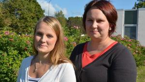 familjearbetare Elin Magnusson och t f socialarbetare Marthina Korhonen.