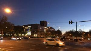Trafikljus fungerar inte i korsningen av Forsbyvägen och Backasgatan på grund av trafikolycka
