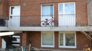 Det bostadshus i Hannover där två personer dödades av en hund.