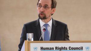 Zeid Ra'ad Al Hussein, chef för F N:s råd för mänskliga rättigheter