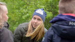 Hanna Enlund spelar in Undra sa flundra.