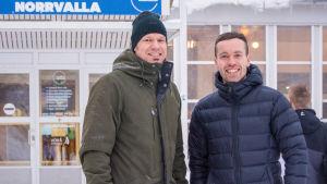 Thomas Asp och Joakim Träskelin.