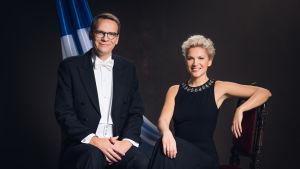 Heikki Ali-Hokka ja Sanna Savikko juontavat Vuosisadan etkot ja Kohti Linnan juhlia -lähetykset 2017